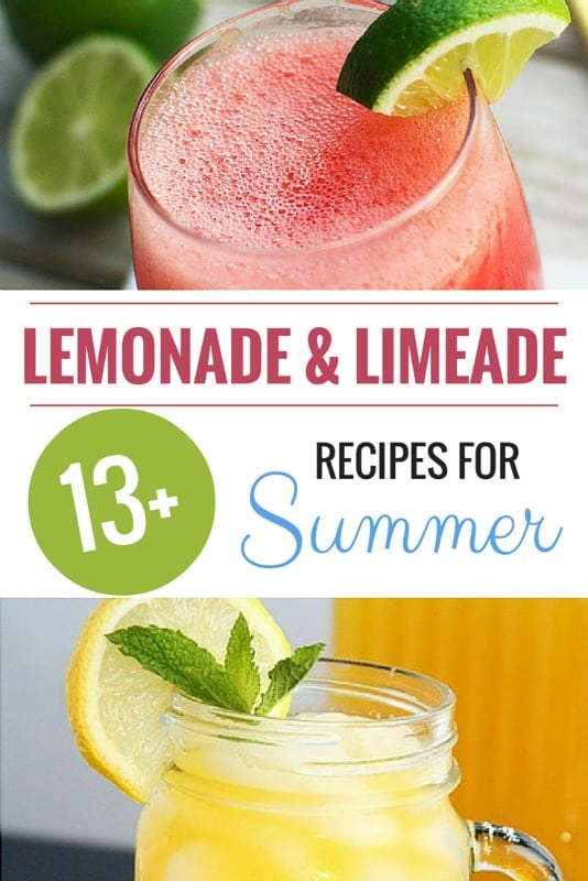 Over 13 Lemonade and Limeade Recipes for Summer