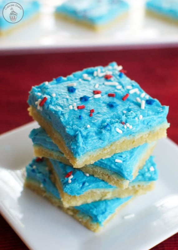 Patriotic Sugar Cookie Bars - The perfect treat for a 4th of July celebration! These bars are GOOD.