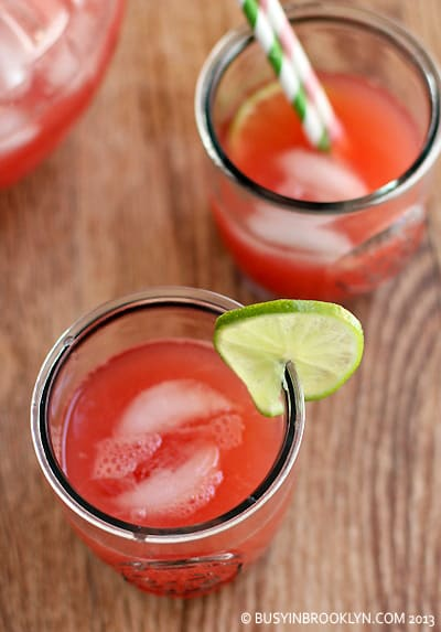 Watermelon Limeade from Busy in Brooklyn