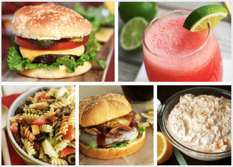 A line up of recipes for your Fourth of July BBQ!