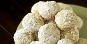 Baked Powdered Sugar Donut Holes