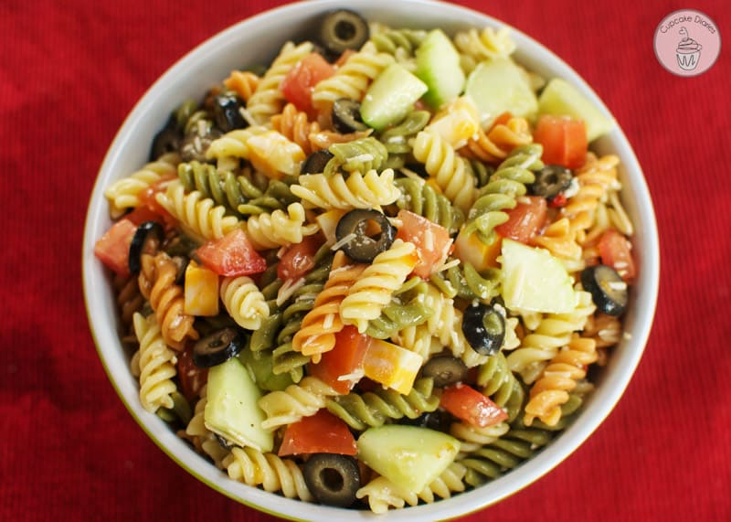 Italian pasta salad easy italian pasta salad a perfect side dish for a summer potluck we love forumfinder