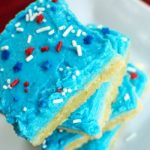 Patriotic Sugar Cookie Bars + Over 80 Other Red, White and Blue Ideas