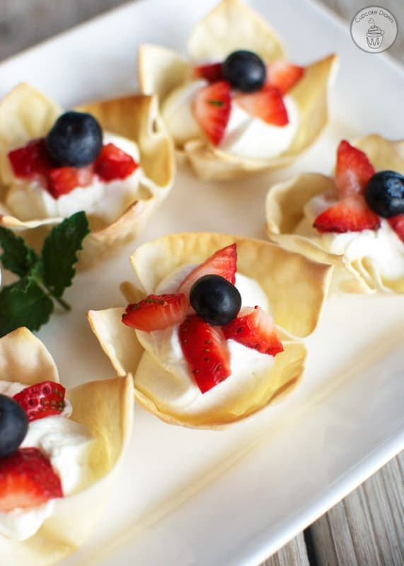 Red, White and Blue Berry Tartlets - This easy no-bake treat is perfect for the 4th of  July!