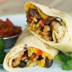Southwestern Chicken Wraps - Grilled chicken breast slices with cheese and a southwestern bean and corn mixture. A perfect recipe for a quick weeknight meal! #FastFreshFilling #Pmedia #ad