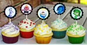 Inside Out Cupcakes with FREE Printable Toppers