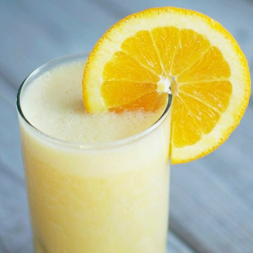 Smoothy, frothy, and so delicious! You're going to love making an orange julius at home.