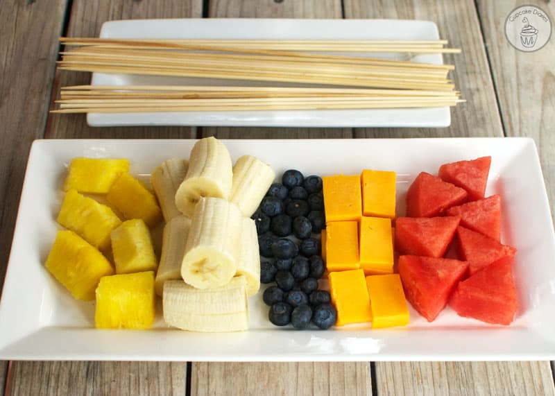 Rocket Skewers - An out-of-this-world  snack that's perfect for a summer afternoon!