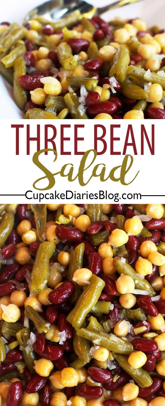 Three Bean Salad - A perfect side dish for summer or Thanksgiving!