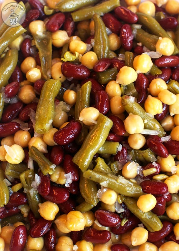 Three Bean Salad - A perfect dish for a summer meal!