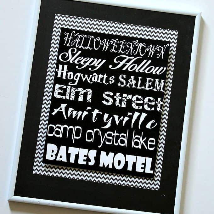 Creepy Places Halloween Printable