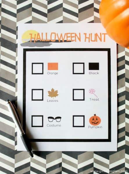 Halloween Hunt Preschool Printable