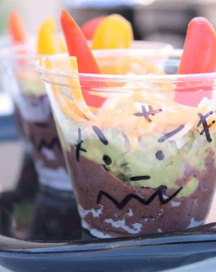 Spooky Bean Dip Cup