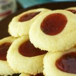Strawberry Fruit Spread Thumbprint Cookies