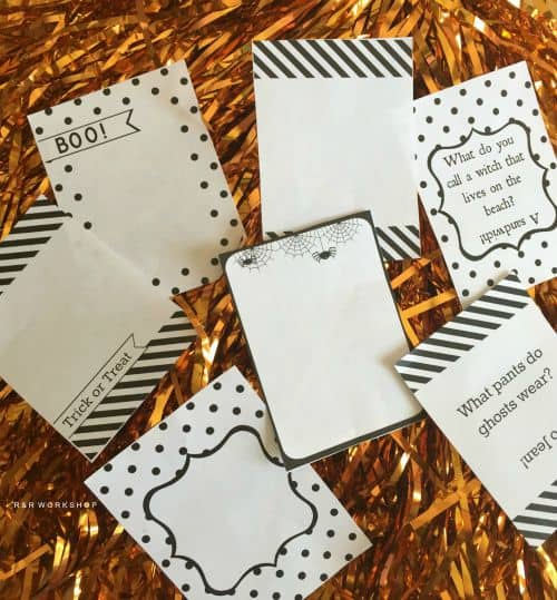 Free Printable Halloween Notes and Jokes