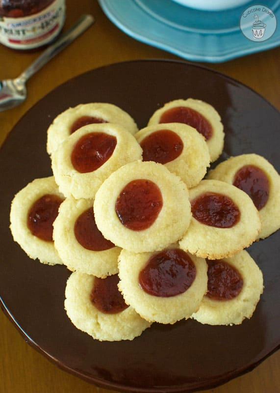 Fruit Spread Thumb Print Cookies