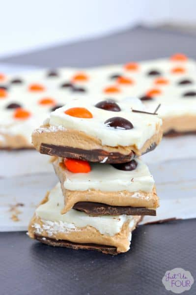 Halloween Chocolate Peanut Butter Squares