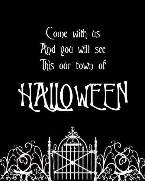 Free Halloween Town Printable 30 Days Of Halloween Day