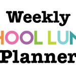 Weekly School Lunch Planner Printable