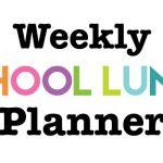 Weekly School Lunch Planner Printable