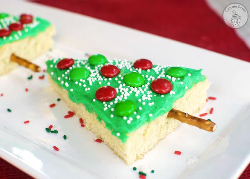christmas tree sugar cookie bars - Decorated Christmas Sugar Cookies