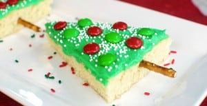 Christmas Tree Sugar Cookie Bars