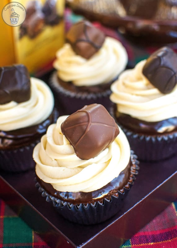 GODIVA Chocolate Caramel Cupcakes