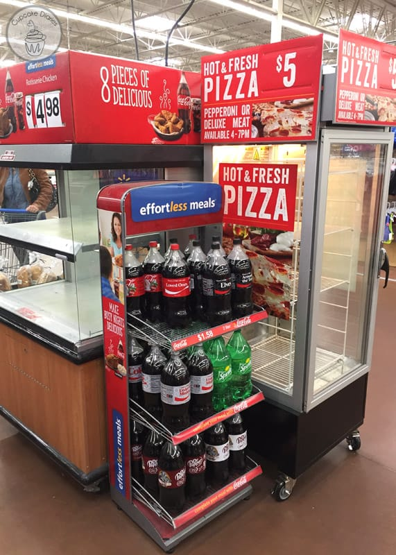 Walmart Deli meals with Diet Coke for an easy family meal!