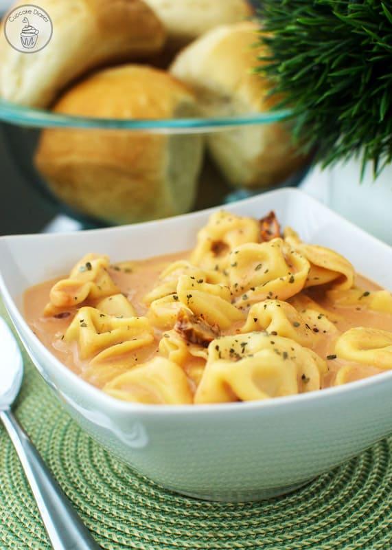 Creamy Tomato and Tortellini Soup
