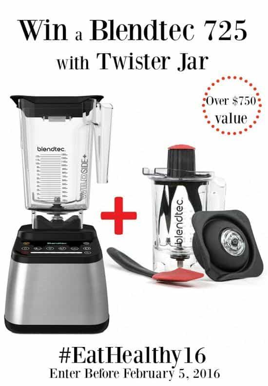 Blendtec 725 and Twister Jar Giveaway