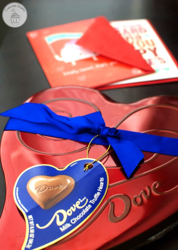 DOVE® Valentine's Day tin and American Greetings® Valentine's Day greeting cards at Walmart