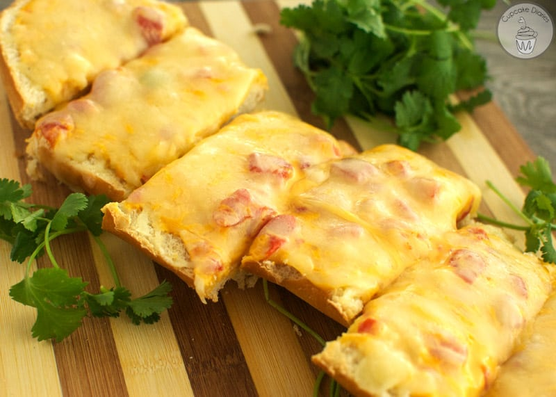 Queso French Bread - A perfect appetizer for a football party!