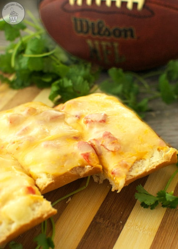 Queso French Bread - A perfect appetizer for game time!