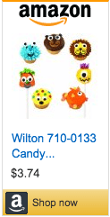 Large Candy Eyeballs on Amazon