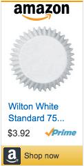 Wilton white cupcake liners on Amazon