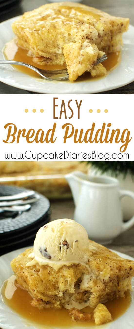 Easy Bread Pudding - Bread pudding is a popular dessert all over the world. You're going to love how easy it is to make this recipe.It's the most delicious way to use leftover bread!