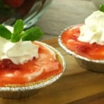 Mini No Bake Strawberry Cheesecakes