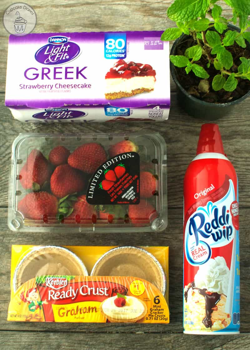 Mini No Bake Strawberry Cheesecakes Ingredients
