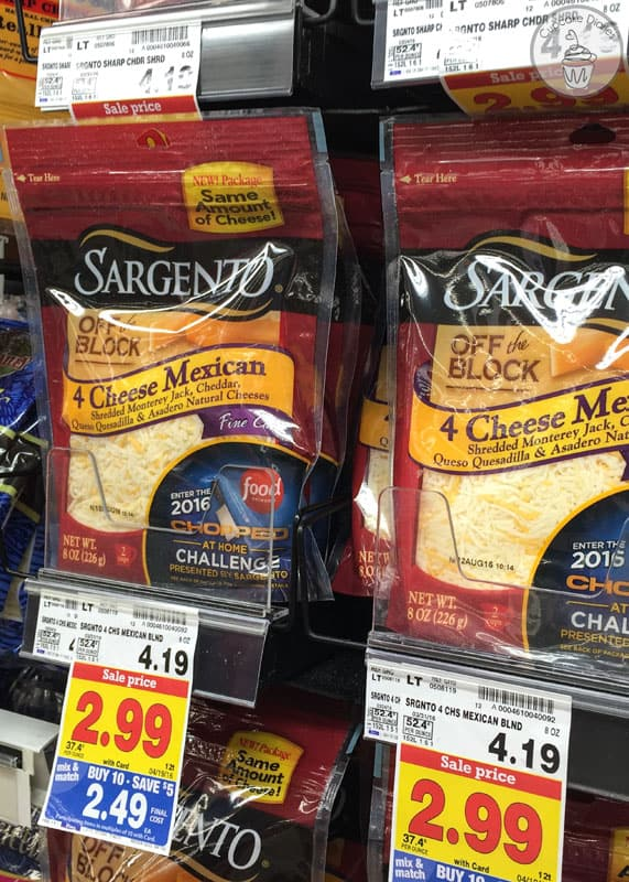 Sargento® Fine Cut Shredded 4 Cheese Mexican blend at Kroger