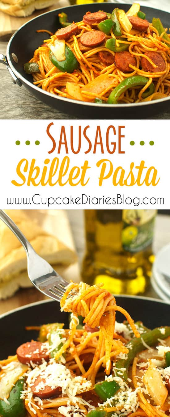Sausage Skillet Pasta - A quick and easy weeknight meal.