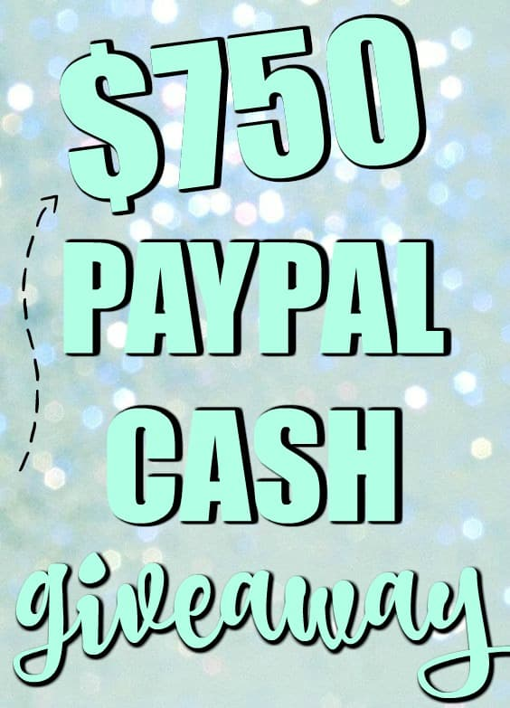 $750 PayPal Cash Giveaway