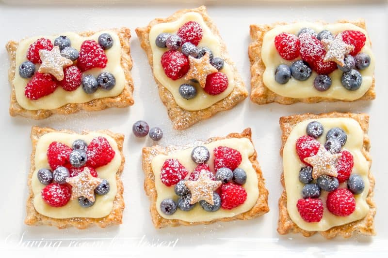 Star-Studded Berry Tarts with Vanilla Pastry Cream