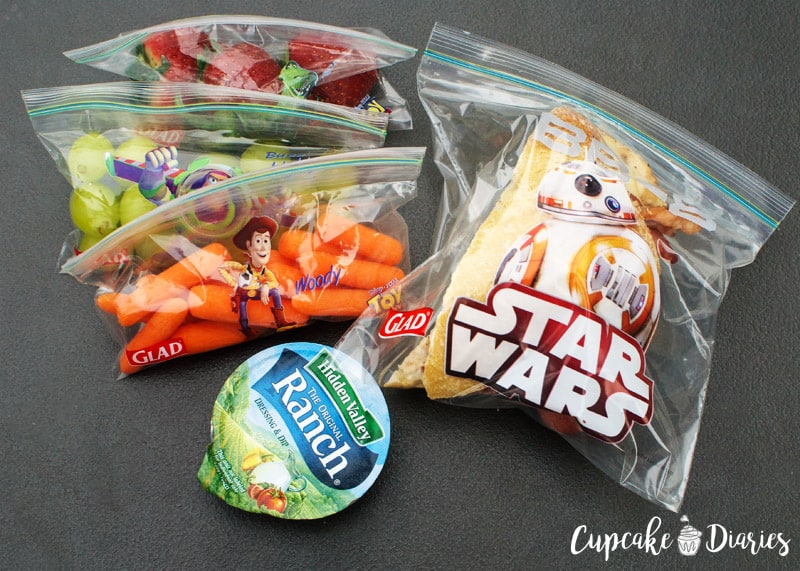 Glad Snack and Sandwich Bags with Disney Characters, Hidden Valley Ranch To-Go