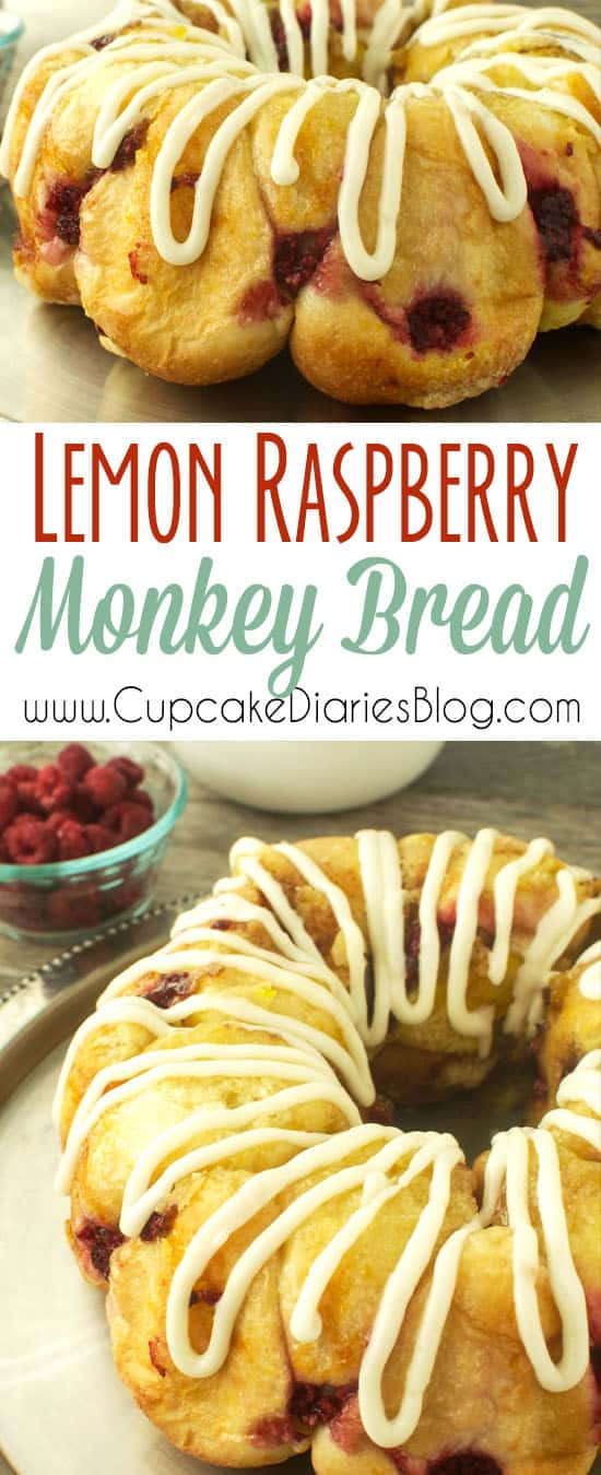 Lemon Raspberry Monkey Bread
