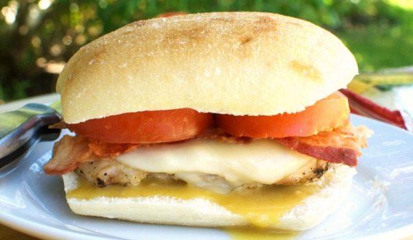 Grilled Chicken Bacon Sandwich with Honey Mustard Sauce