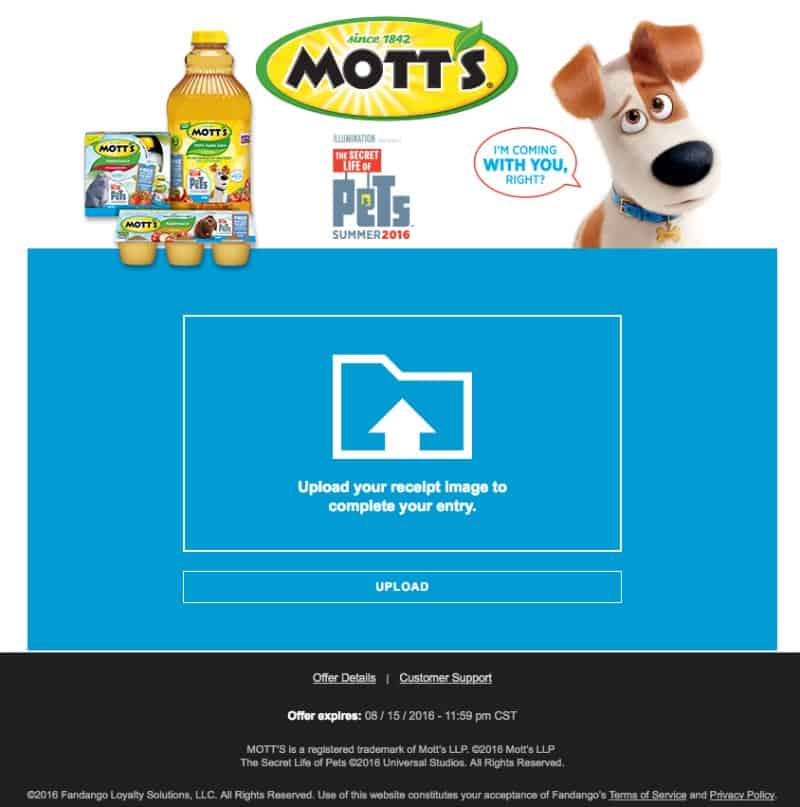 "How to Redeem a Child's Ticket to ""The Secret Life of Pets"" with Motts"