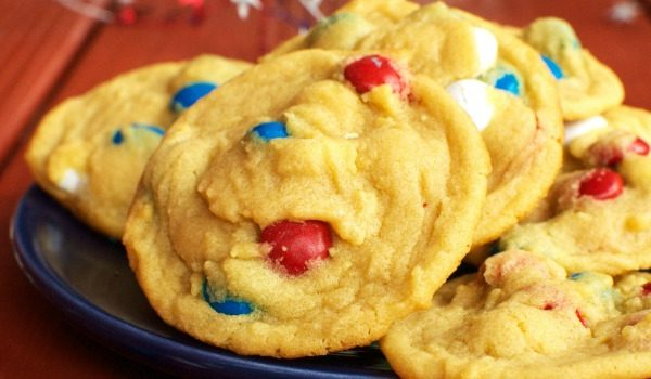 Patriotic M&M Cookies