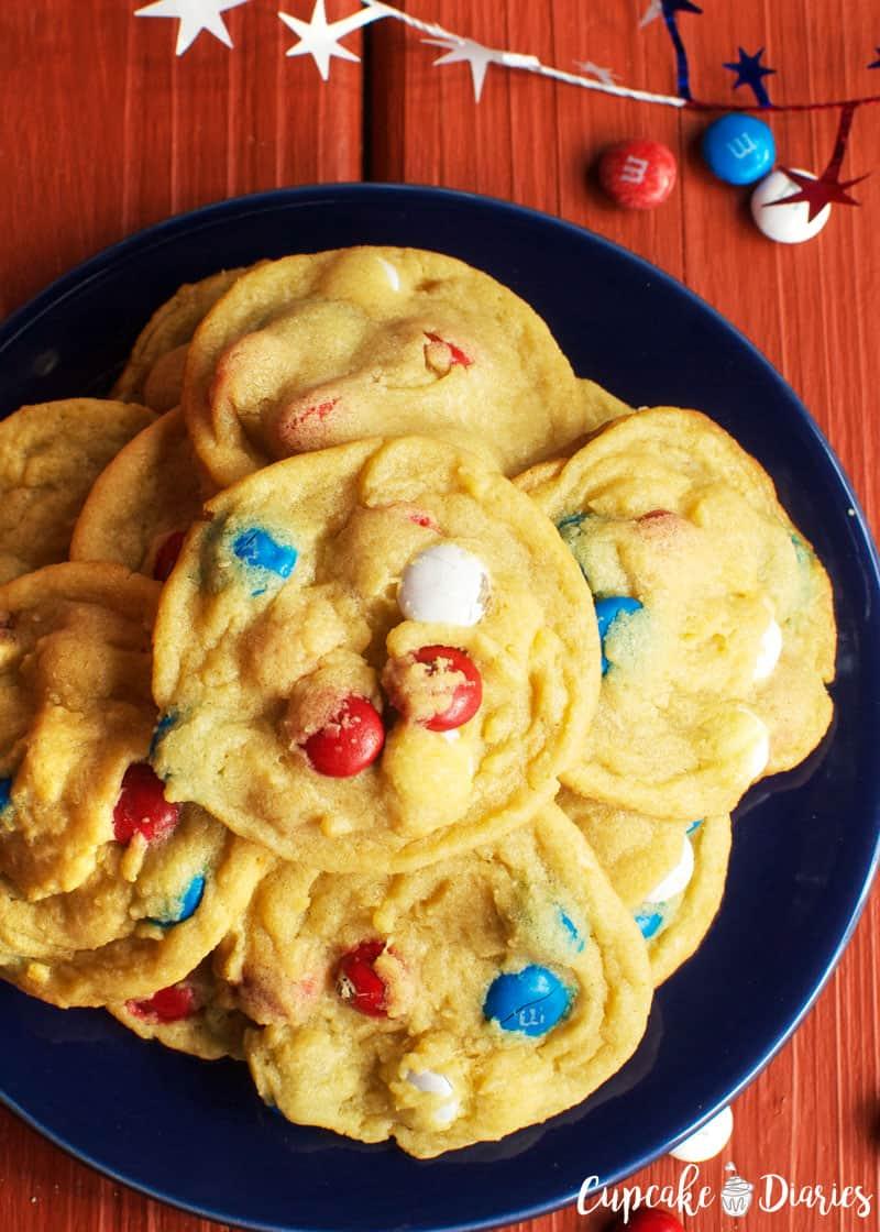 Patriotic M&M Cookies