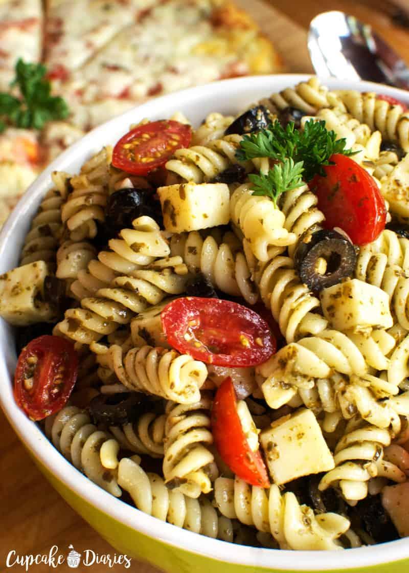 The Best Pizza Pasta Salad