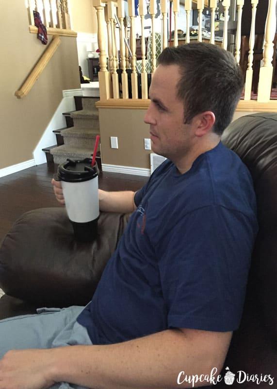 Hubby Using My Mug